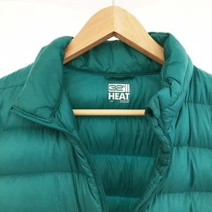 NWOT 32 Degrees Heat teal down puffy jacket, Large